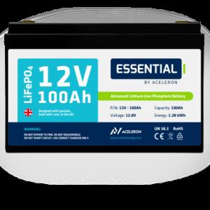 Aceleron Lithium 12v 100Ah leisure battery